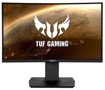 """Alege un Monitor Curbat de Gaming LED VA Asus TUF VG24VQ pentru ca are diagonala de 23,6"""", poate fi aranjat cum iti doresti si pentru ca primesti garantie, ca sa nu iti faci probleme in timp!"""